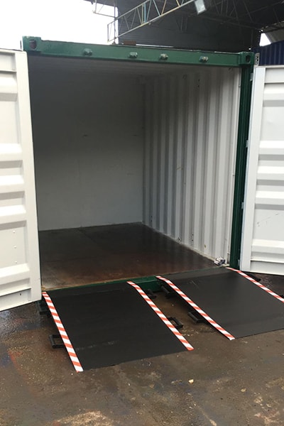 steel access ramps for entry into container