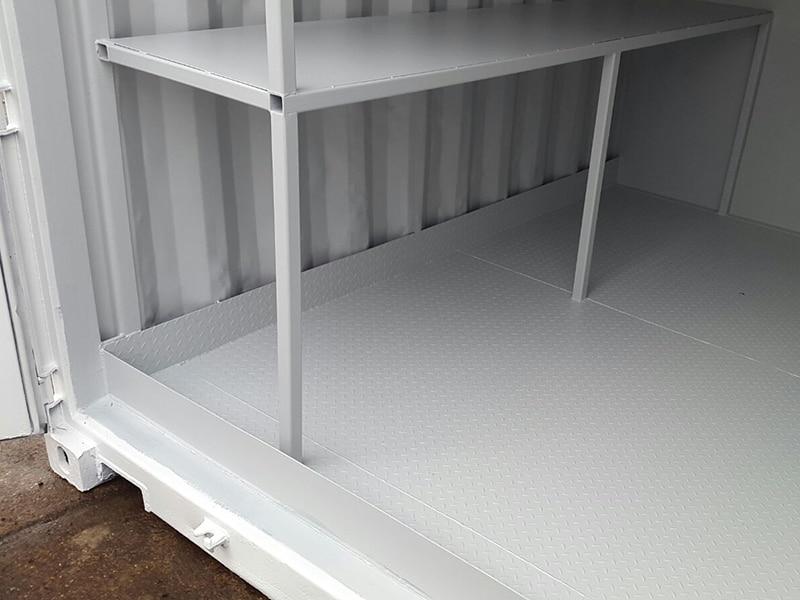 steel bunded floor inside 10ft container