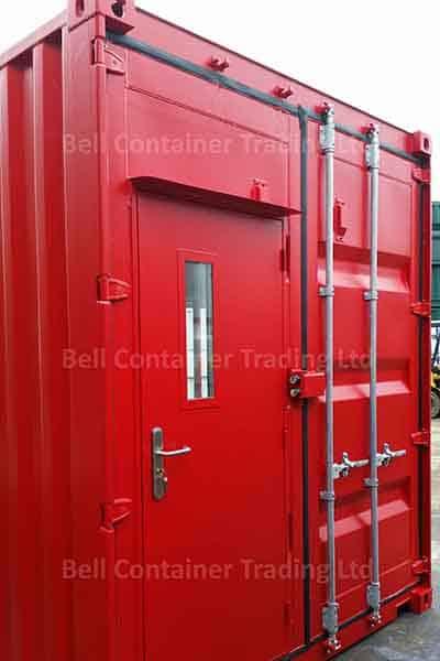steel personnel door small glazed panel