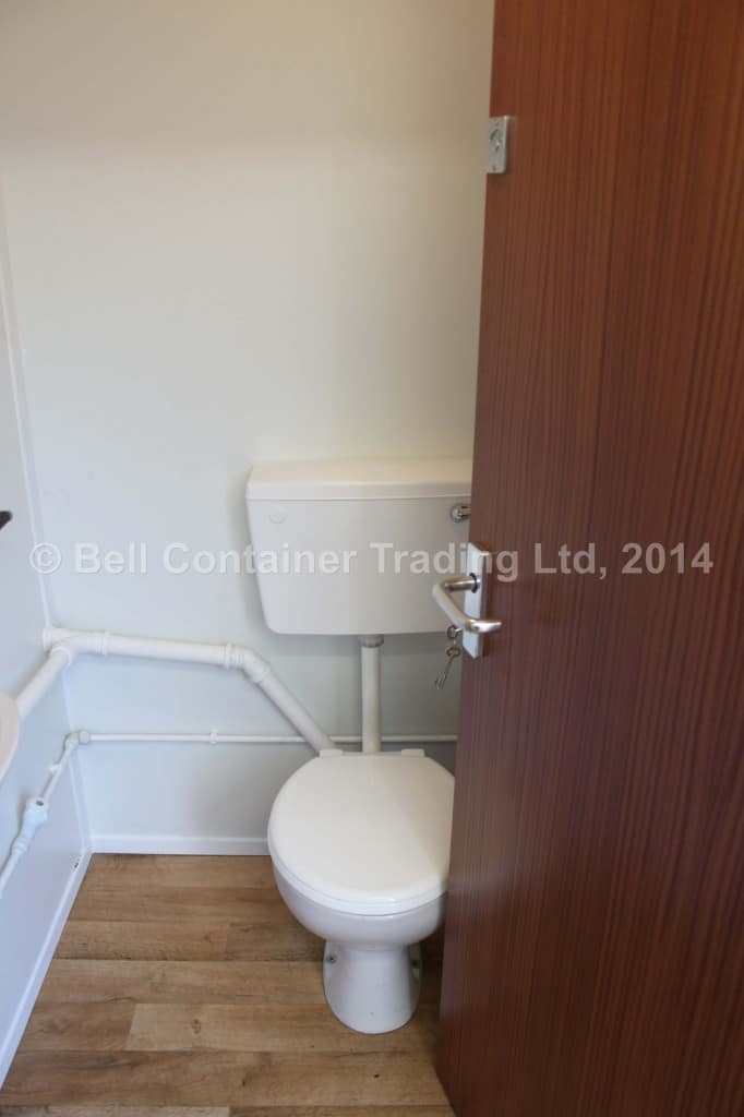 toilet section conversion bespoke WC fitted into 40ft container