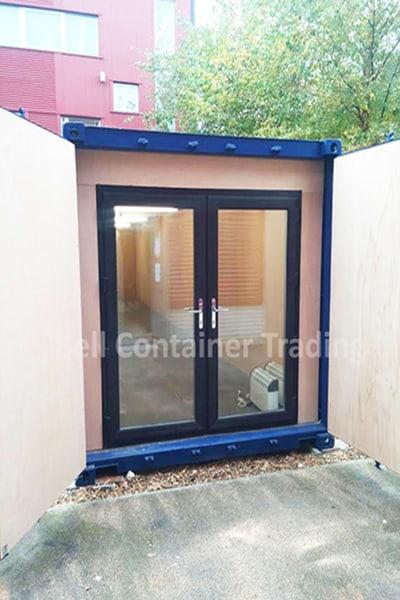 uPVC door frame closed