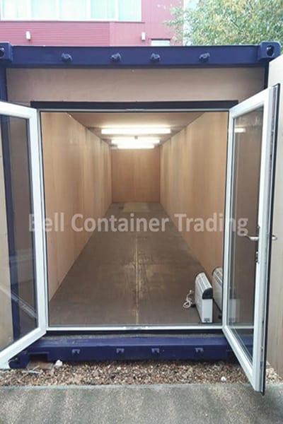 uPVC doors open ply