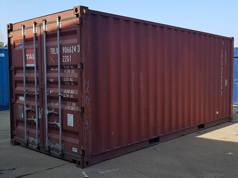 Used 20ft steel storage containers for sale, cheap containers