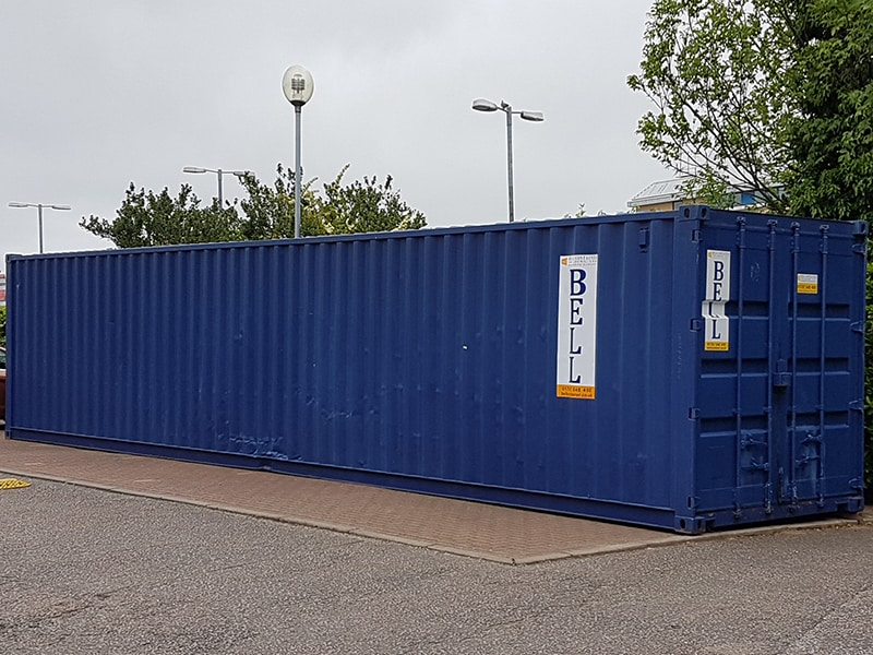 used 40ft container from hire fleet blue RAL 5013