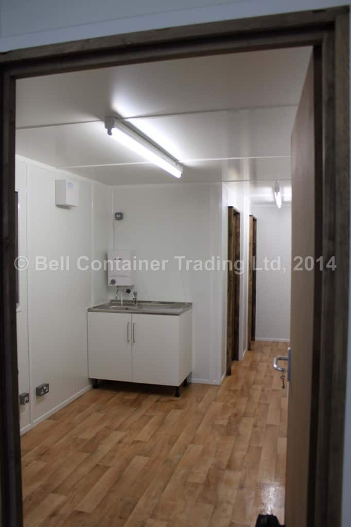view into canteen area from workshop container conversion