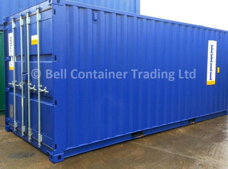 20ft container for hire and sale blue Essex depot 1024x576