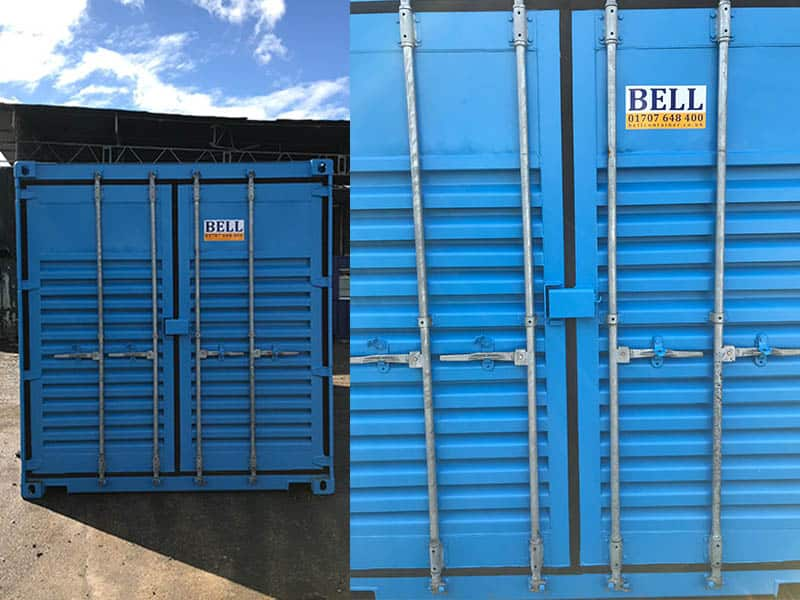 20ft container fitted with large louvred vents