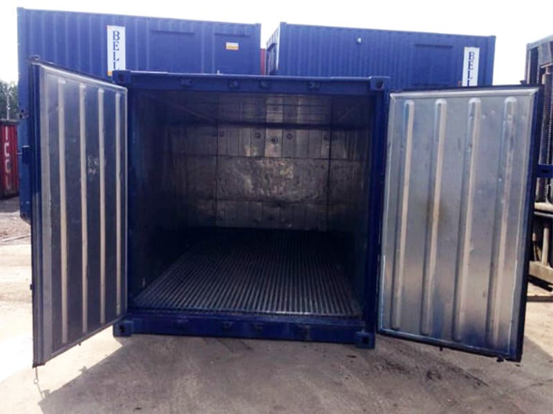 20ft insulated container hire doors open