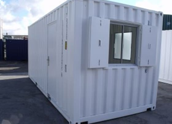 custom container conversions unit painted white Bell 300x225