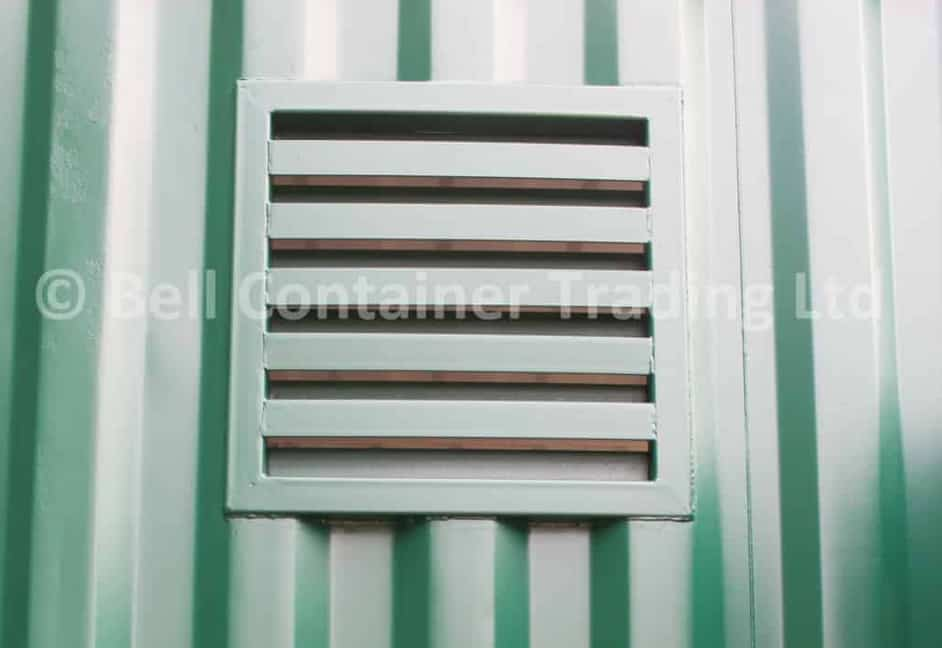 shipping container louvred vent fabrication steel