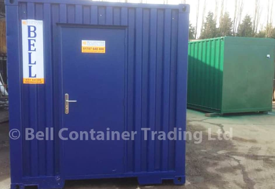 steel pedestrian access container door single