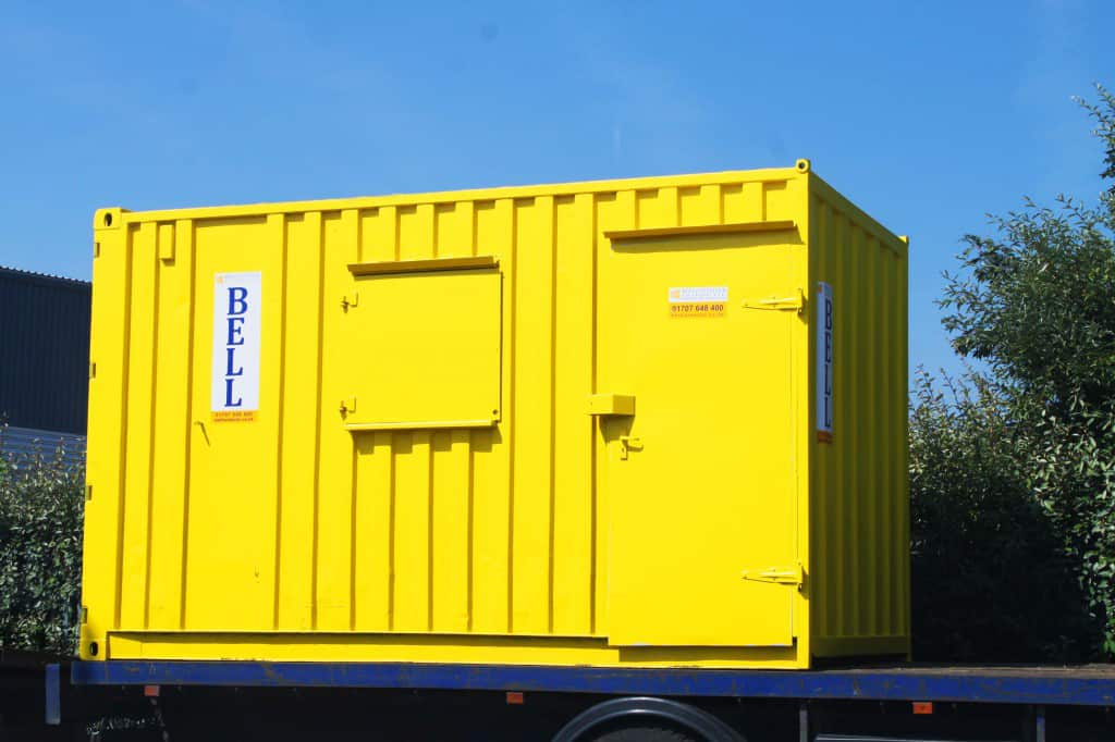 yellow14ft office container bespoke conversion 1024x682 1