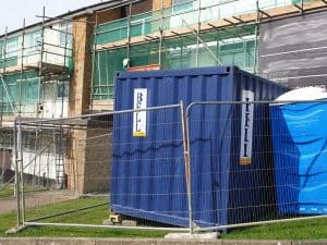 temporary fence hire portable site fencing London