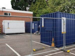 temporary fencing for hire London Herras Fencing
