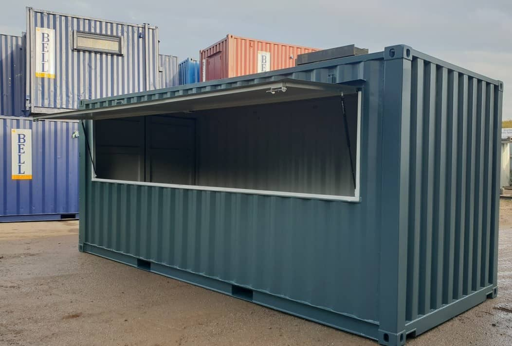 20ft shipping container bar cafe 1