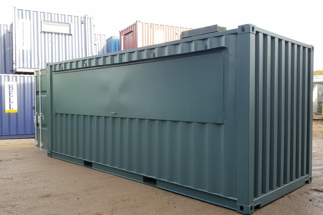 20ft shipping container bar conversion