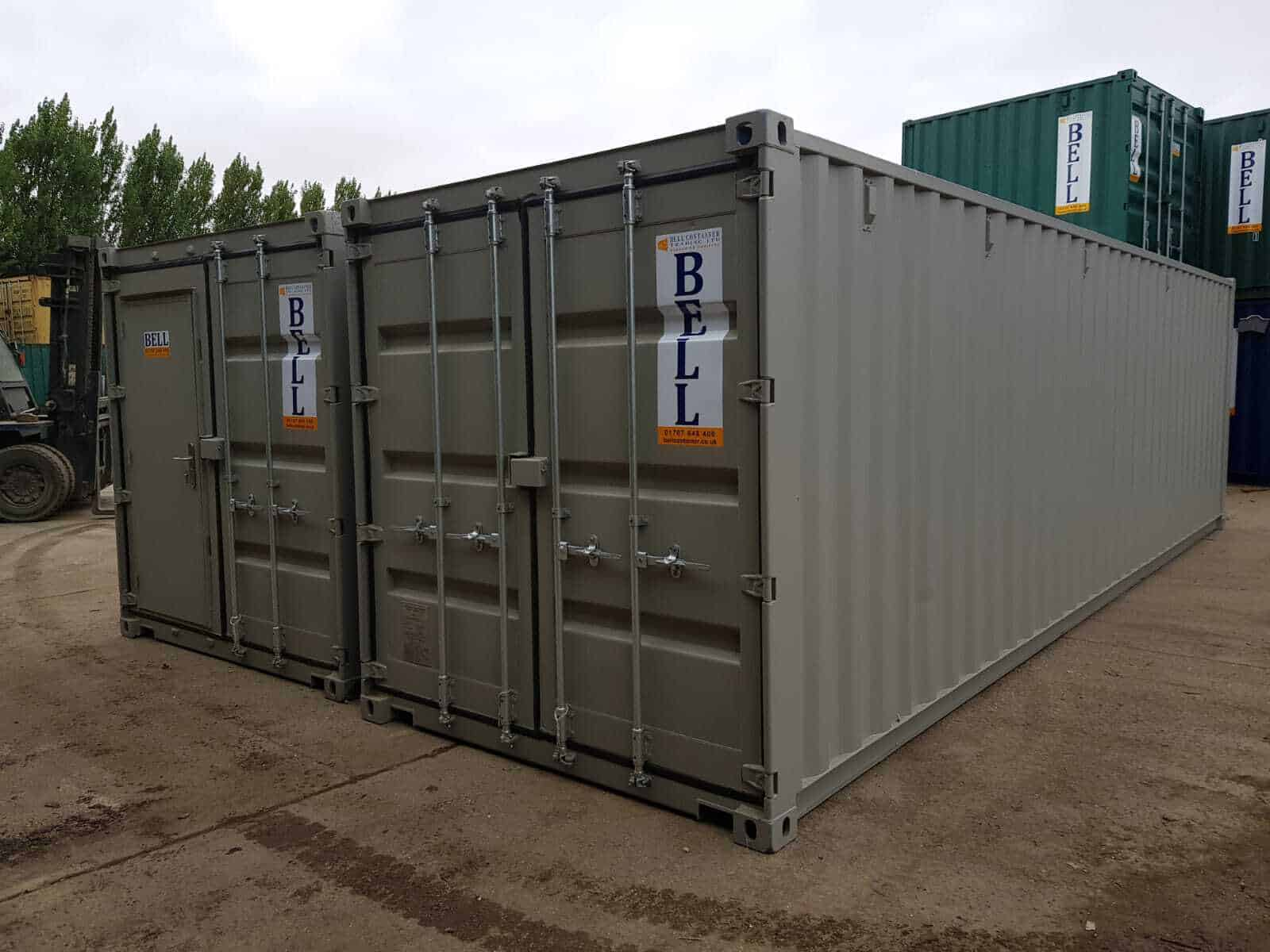 linked 30ft storage containers