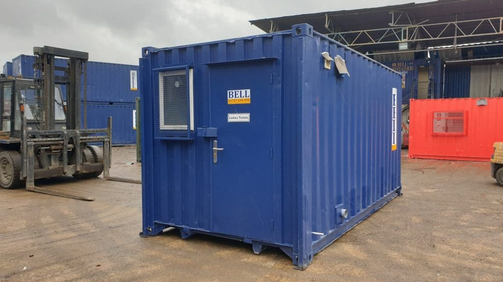 16ft bespoke canteen and toilet block London sales fleet