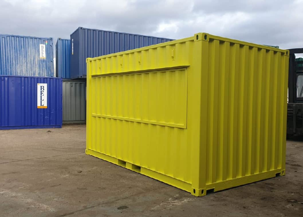 container street food stall London unit bespoke conversion