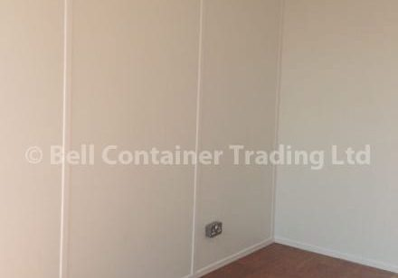 10ft container conversion lined with electrics